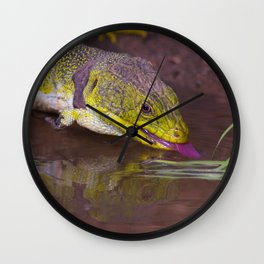 The ocellated lizard Wall Clock