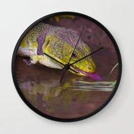 The ocellated lizard Wall Clock
