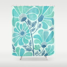 Himalayan Blue Poppies Shower Curtain