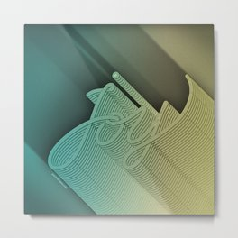 Joy – Stone Dark Metal Print