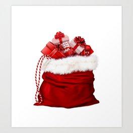Christmas gifts bag #society6 #decor #buyart Art Print