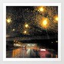 Rainy Night Commute by claireparins