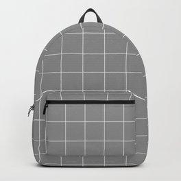 Windowpane Check Grid (white/gray) Backpack