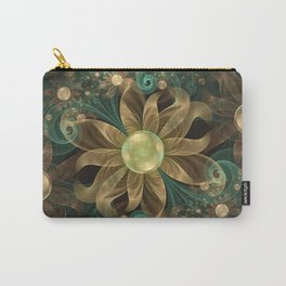Shining Gems Blooming as Bronze and Copper Flowers Carry-All Pouch