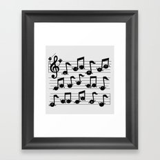Notes Framed Art Print