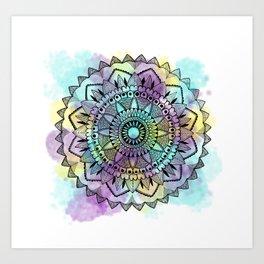 Colourwash Mandala Art Print