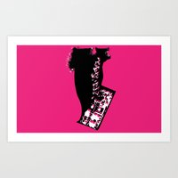 Beautu 7 Lady Purse Art Print