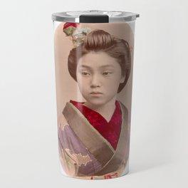 Beautiful Japanese girl Travel Mug
