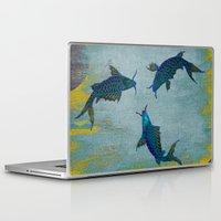 koi Laptop & iPad Skins featuring Koi  by Saundra Myles