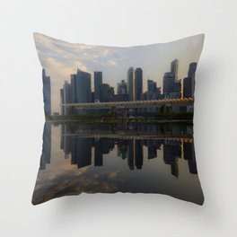 Singapore, Skyline Throw Pillow