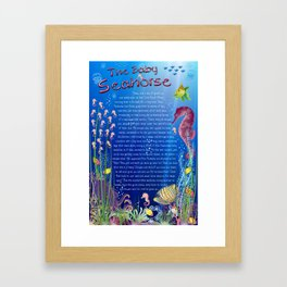 Tale-on-a-poster / The baby Seahorse Framed Art Print