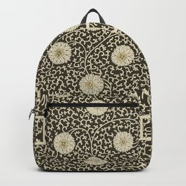 Retro Floral Black Backpack