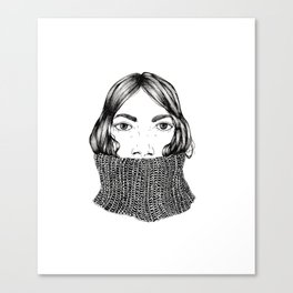 Turtle neck Canvas Print