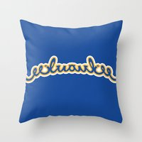 milwaukee Throw Pillows featuring milwaukee test by spud muther