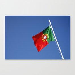 Portuguese national flag Canvas Print