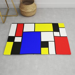 Colored Squares Art Rug