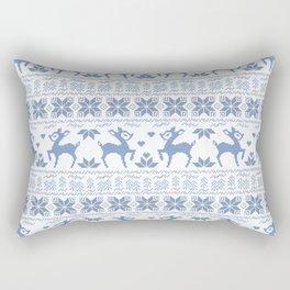 Christmas pattern. Cross-stitch. 2 Rectangular Pillow