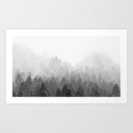 Foggy Forest Art Print