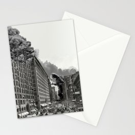Old Time Godzilla in New York Stationery Cards