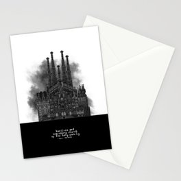 HexArchi - Spain, Barcelona, Basilica and Expiatory Church of the Holy Family Stationery Cards