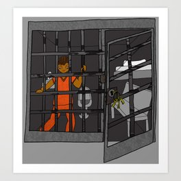 Anxiety: Trapped in a Cell Art Print