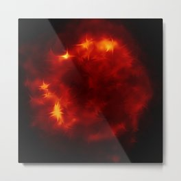 Fire ball the red Side of Life - join the dragon   (A7 B0133) Metal Print