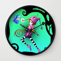 fairytale Wall Clocks featuring Fairytale by Voodoo Dolly