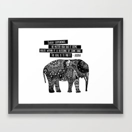 Blessing Buddha Quote Framed Art Print