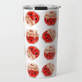 kawaii jam jar pattern Travel Mug