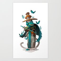 Mage Cat Art Print