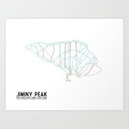 Jiminy Peak, MA - Minimalist Trail Art Art Print