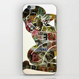 Graffiti Girl Modern Abstract Fine Art Nude Painting Pop ART iPhone Skin