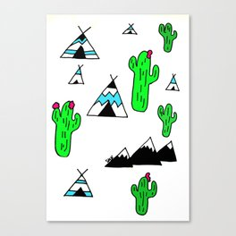 TeePee Party Canvas Print