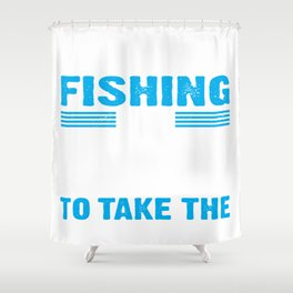 fishing rod tackle poles equipment call gear cast line tea Shower Curtain
