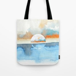 Orange Sea Drop Tote Bag