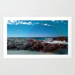 a Day at the Beach 1  Art Print