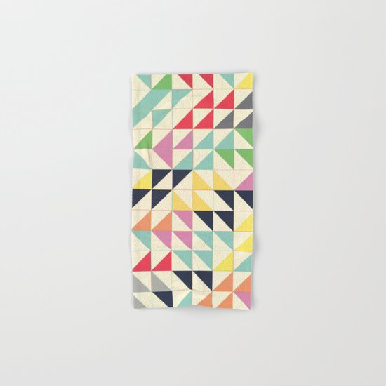 Triangles and Squares III Hand & Bath Towel