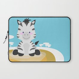 Zebra in the savannah Laptop Sleeve