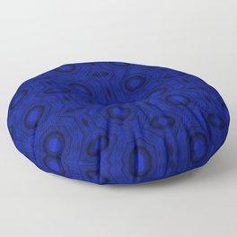 """Blue """"Mouth"""" Columns Floor Pillow"""