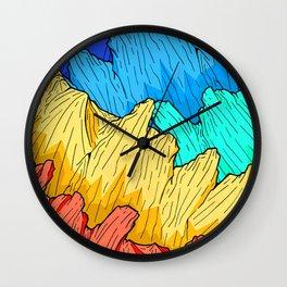 Rainbow Mounts Wall Clock