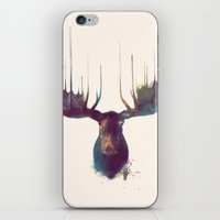 night sky iPhone & iPod Skins featuring Moose by Amy Hamilton