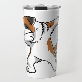 Funny Dabbing Saint Bernard Dog Dab Dance Travel Mug
