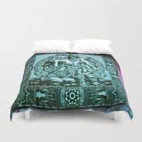 tapestry Duvet Covers featuring Tapestry by Chicago Artist