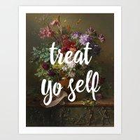 treat yo self Art Prints featuring treat yo self by ecce