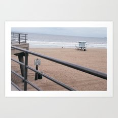 The Rails of Sand Art Print