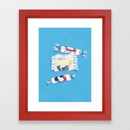 White Rabbit Candy 2 Framed Art Print
