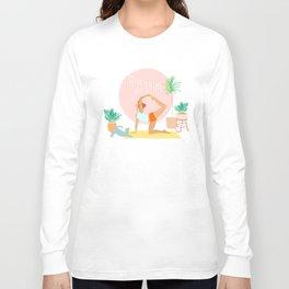'Rise and Shine' Yoga Girl Power Long Sleeve T-shirt