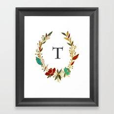 t mongrammed Framed Art Print