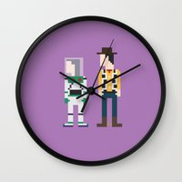 toy story Wall Clocks featuring Toy Story 8-Bit by Eight Bit Design