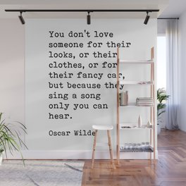 They Sing A Song Only You Can Hear, Oscar Wilde Motivational Quote Wall Mural